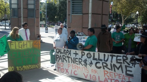 VIP and Other Groups Protest at the Headquarters of Cal EPA and DTSC in Sacramento