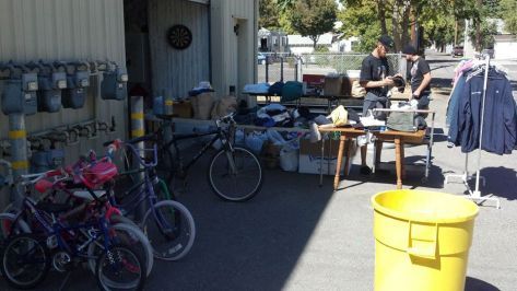 VIP Gives Away Donated Clothes, Shoes, Bikes, Canned Food, and Other Household Items