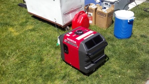 Another gas powered generator at Modesto's Earth Day last year.