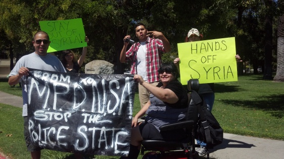 VIP joins other local groups & community members to protest NSA spying & against war with Syria
