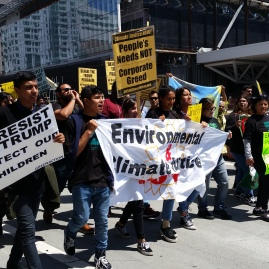 VIP marches for Environmental and Climate Justice with the California Environmental Justice Coalition (CEJC) and hundreds of other front-line activists in SF, 2017