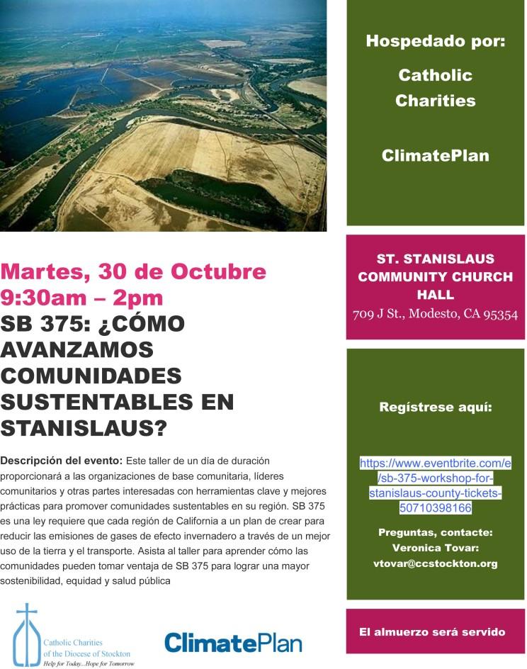 SB375 flyer Spanish