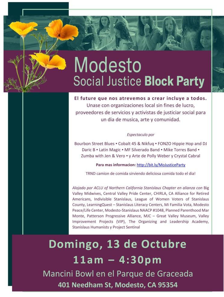 Fiesta de Justia Modesto_13 de Octubre