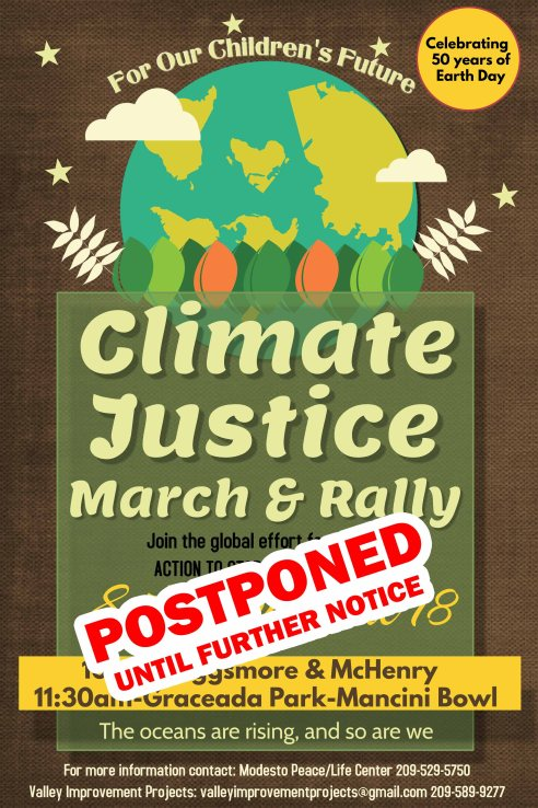 Climate Justice MarchRally-POSTPONED